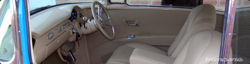 Creme leather interior