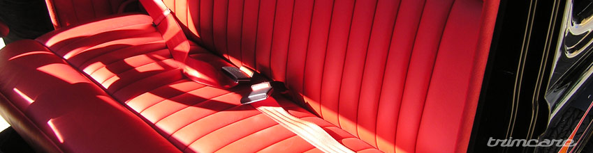 Red Leather interior on Hot Rod